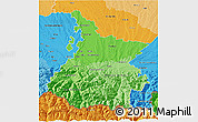 Political Shades 3D Map of Hautes-Pyrénées