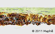 Physical Panoramic Map of Bagneres-de-Bigorre