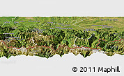 Satellite Panoramic Map of Bagneres-de-Bigorre