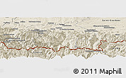 Shaded Relief Panoramic Map of Bagneres-de-Bigorre