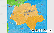Political Shades 3D Map of Indre-et-Loire