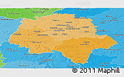 Political Shades Panoramic Map of Indre-et-Loire