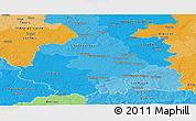Political Shades Panoramic Map of Indre