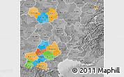 Political Map of Midi-Pyrénées, desaturated