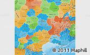 Political Map of Midi-Pyrénées, political shades outside