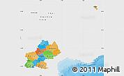 Political Map of Midi-Pyrénées, single color outside