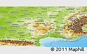Physical Panoramic Map of Midi-Pyrénées