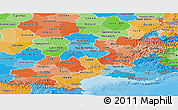 Political Shades Panoramic Map of Midi-Pyrénées