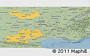 Savanna Style Panoramic Map of Midi-Pyrénées