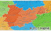 Political Shades 3D Map of Tarn-et-Garonne