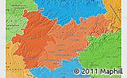 Political Shades Map of Tarn-et-Garonne