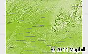 Physical 3D Map of Montauban