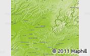 Physical Map of Montauban
