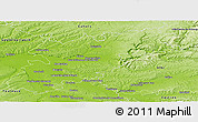Physical Panoramic Map of Montauban