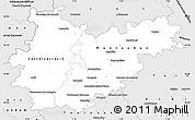 Silver Style Simple Map of Tarn-et-Garonne