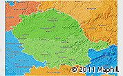 Political Shades 3D Map of Tarn
