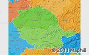Political Shades Map of Tarn