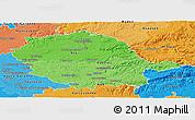 Political Shades Panoramic Map of Tarn