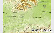 Physical Map of Territoire-de-Belfort