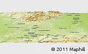 Physical Panoramic Map of Territoire-de-Belfort