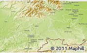 Physical 3D Map of Territoire de Belfort