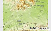 Physical Map of Territoire de Belfort