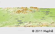 Physical Panoramic Map of Territoire de Belfort