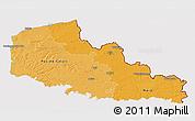 Political Shades 3D Map of Nord-Pas-de-Calais, cropped outside