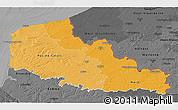 Political Shades 3D Map of Nord-Pas-de-Calais, darken, desaturated