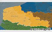 Political Shades 3D Map of Nord-Pas-de-Calais, darken
