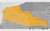 Political Shades 3D Map of Nord-Pas-de-Calais, desaturated