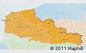 Political Shades 3D Map of Nord-Pas-de-Calais, lighten
