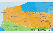 Political Shades 3D Map of Nord-Pas-de-Calais