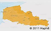 Political Shades 3D Map of Nord-Pas-de-Calais, single color outside