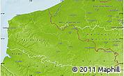 Physical Map of Nord-Pas-de-Calais