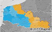 Political Map of Nord-Pas-de-Calais, desaturated