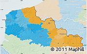 Political Map of Nord-Pas-de-Calais, lighten
