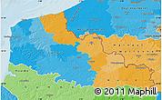 Political Map of Nord-Pas-de-Calais, political shades outside