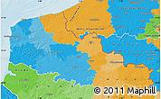 Political Map of Nord-Pas-de-Calais