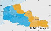 Political Map of Nord-Pas-de-Calais, single color outside