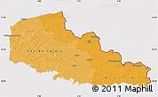 Political Shades Map of Nord-Pas-de-Calais, cropped outside