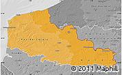 Political Shades Map of Nord-Pas-de-Calais, desaturated