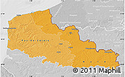 Political Shades Map of Nord-Pas-de-Calais, lighten, desaturated