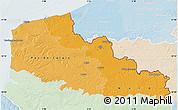 Political Shades Map of Nord-Pas-de-Calais, lighten