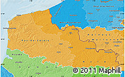 Political Shades Map of Nord-Pas-de-Calais