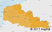 Political Shades Map of Nord-Pas-de-Calais, single color outside