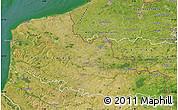 Satellite Map of Nord-Pas-de-Calais