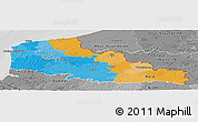 Political Panoramic Map of Nord-Pas-de-Calais, desaturated