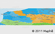 Political Panoramic Map of Nord-Pas-de-Calais, political shades outside