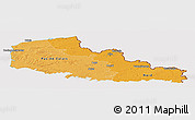 Political Shades Panoramic Map of Nord-Pas-de-Calais, cropped outside